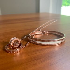 Jewelry - Rose gold bracelet & necklace set
